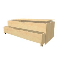 Кровать Тумба детская 2-х секционная выкатная с крышкой