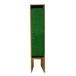 Шкаф в раздевалку односекционный с разноцветными дверками