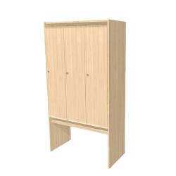 Шкаф в раздевалку трехсекционный