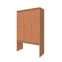 Шкаф для раздевалки трехсекционный