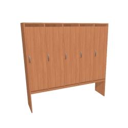 Шкаф для раздевалки пятисекционный