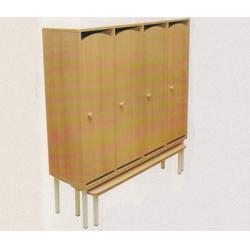 Банкетка детская к 5-секционному шкафу с нишей на металлокаркасе