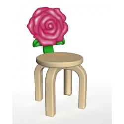 Стул Розовая розочка