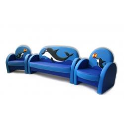 Комплект мягкой мебели «Агата» Дельфин (объемная аппликация)