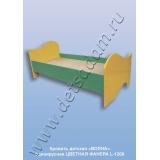 Кровать детская Волна одноярусная L-1200 Цветная (фанера)