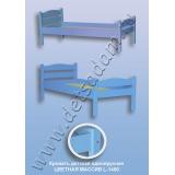 Кровать детская одноярусная L-1400 Цветная (массив)