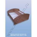 Кровать детская одноярусная Двухместная L-1400 (ЛДСП)