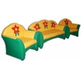 Комплект мягкой мебели «Карина» с аппликацией - Цветочки