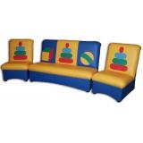 Комплект мягкой мебели «Мечта» с  аппликацией - Пирамидки