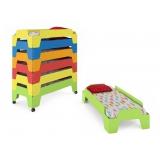 Кровать детская Тетрис (с колесиками)